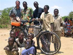 World Bicycle Relief distributes its first of 50,000 bikes to children in Zambia, Southern Africa