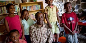 """""""With literate children there is no limit as to how much we can do.""""  -Gebregeorgis"""